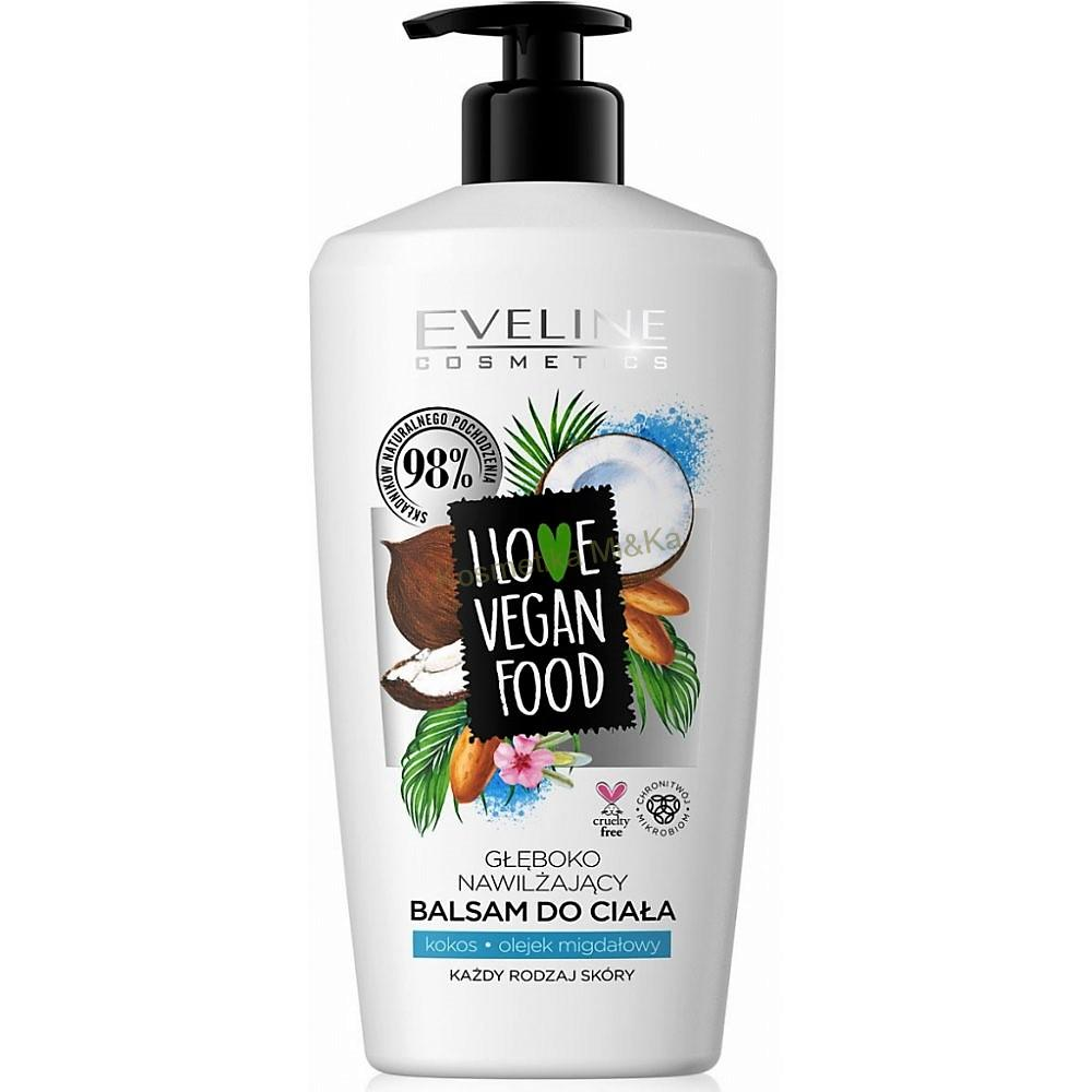 Eveline cosmetics I love vegan food tělový balzám kokos mandlový olej 350 ml