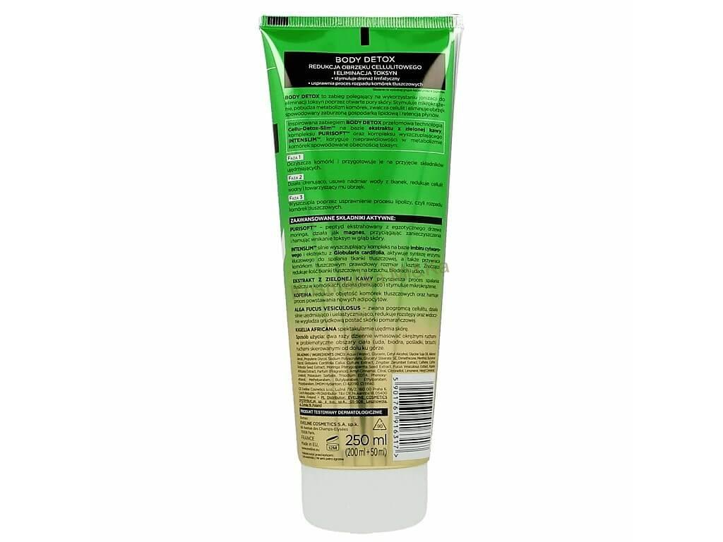 Slim Extreme 4D - Eveline Cosmetics Body Detox, kávové sérum 250ml