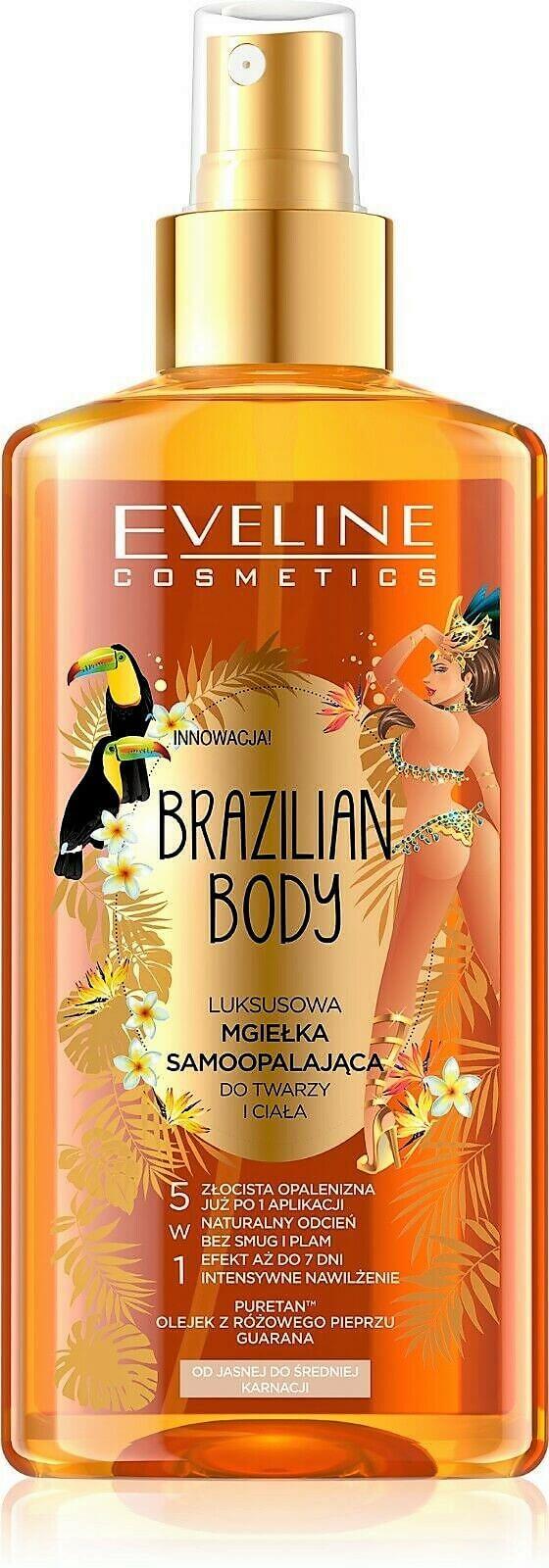 Eveline Cosmetics Brazilian body luxusní samoopalovací sprej na tvář i tělo 150 ml