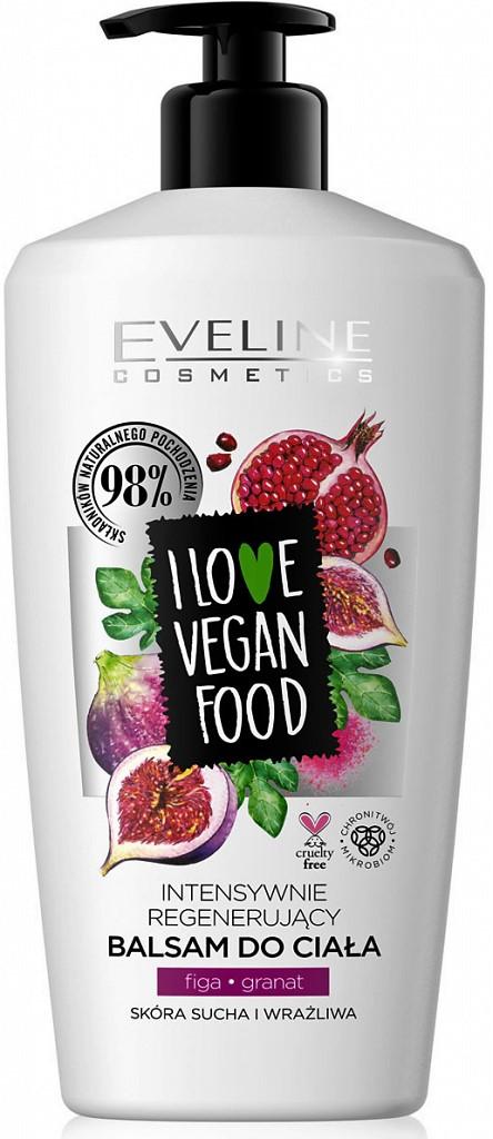 Eveline cosmetics I love vegan food tělový balzám fík granátové jablko 350 ml