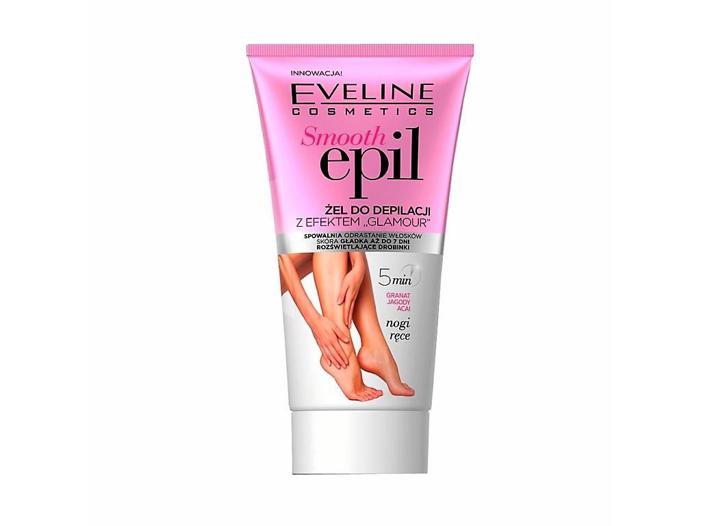 """Eveline cosmetics Smooth Epil Gel na odstranění chloupků s efektem """"glamour"""" - nohy, ruce 175 ml"""