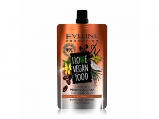 Eveline Cosmetics I love vegan food cukrový tělový peeling káva 75 ml