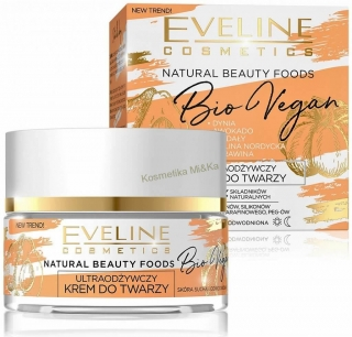 EVELINE NATURAL BEAUTY FOODS Bio Vegan ultra-výživný pleťový krém 50ml