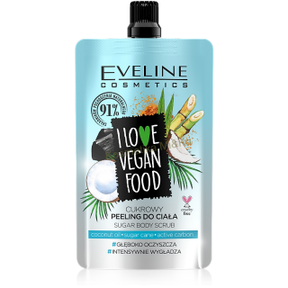 Eveline Cosmetics I love vegan food cukrový tělový peeling kokos 75 ml